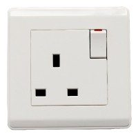 Powermax  BSR 1-Gang 13A  Socket White